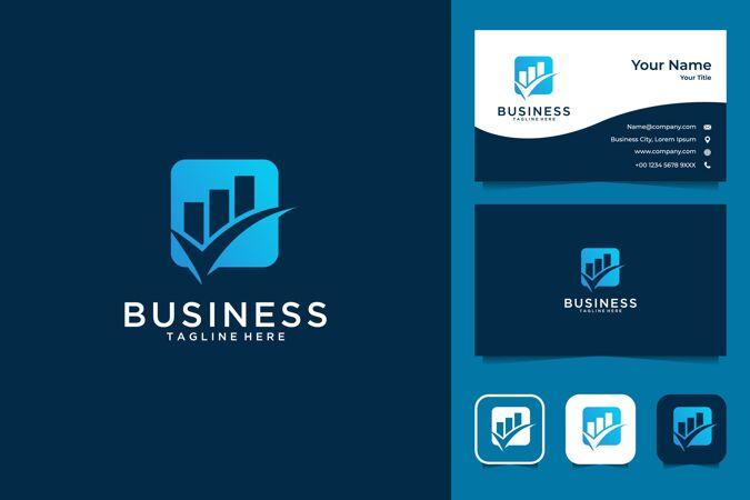 企业成长的标志设计和名片