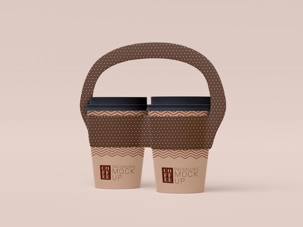 带走一次性咖啡杯模型