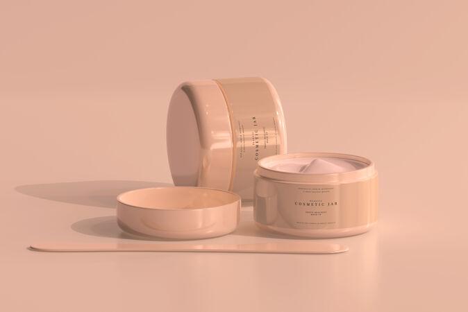 化妆品罐模型