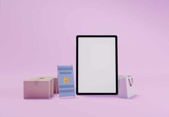 创造性的商业组成与平板电脑模拟