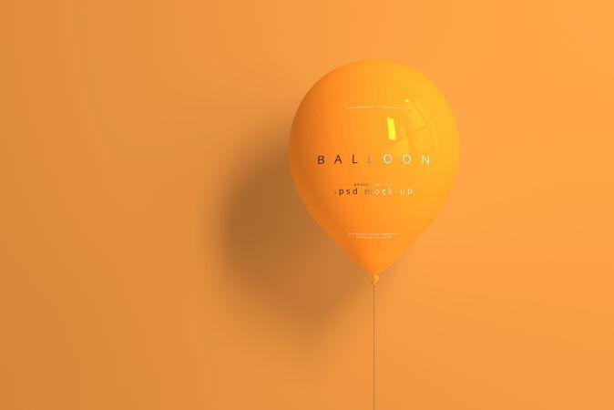 橙色气球模型