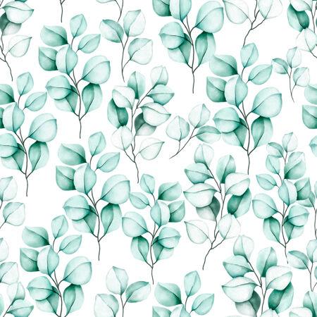 优雅的无缝图案水彩花卉