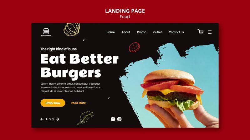 美味汉堡登录页