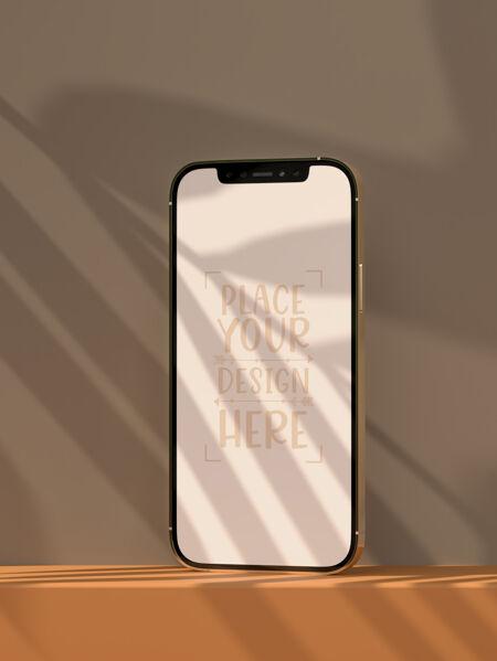 智能手机无框空白屏幕模型