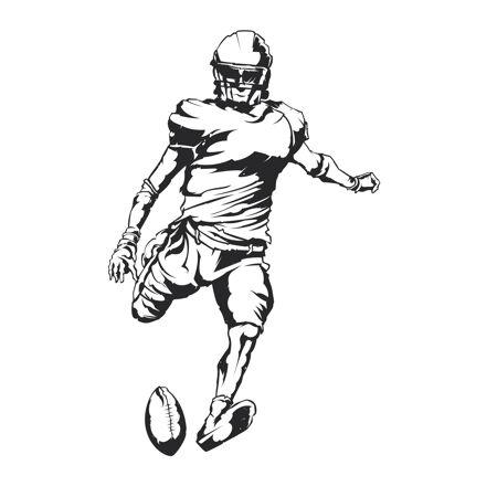 美国足球运动员的独立插图
