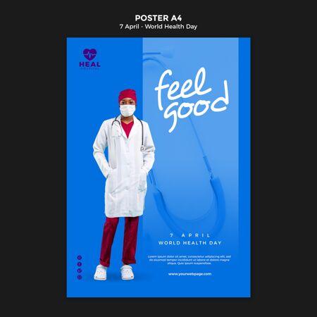 创意世界卫生日海报模板与照片