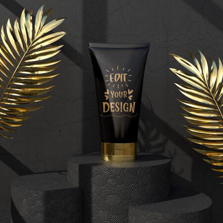 化妆品品牌模型包装的品牌和身份为您的设计准备
