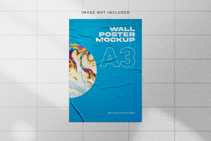 墙上海报模型