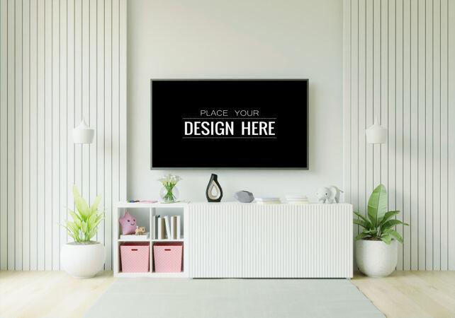 客厅里的电视模型