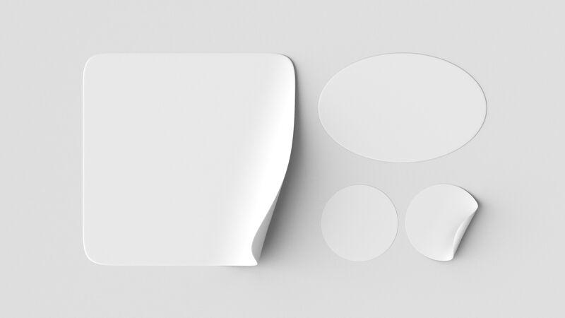 顶视图贴纸系列模型