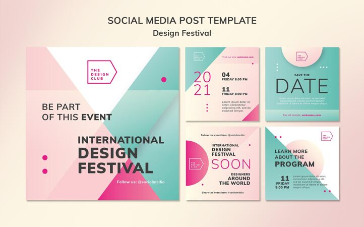设计节日社交媒体帖子